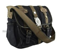 Canvas Vintage Look Casual style Medium Size Shoulder Messenger Bag-Black(B3116)
