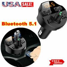 Car Kit Bluetooth FM Transmitter Hands Free Wireless U Disk MP3 Dual USB LCD