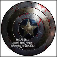 "Fridge Fun Refrigerator Magnet CAPTAIN AMERICA ""SHIELD-C"" DIE-CUT Avengers Comic"
