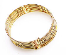 NEW BOHO FASHIONABLE GOLD WIRE HIPPY SPIRAL WRAP CUFF BANGLE BRACELET(ZX50)