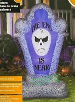 HALLOWEEN 4.5 FT SHORT CIRCUIT SKULL TOMBSTONE Airblown Inflatable GEMMY