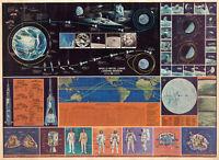 1969 NASA Apollo Initial Lunar Moon Landing Mission Art Poster Print Wall Decor