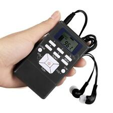 "Mini Portatile Pocket Digital 1.2"" LCD Display Stereo FM Radio DSP With Cuffie"