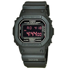 Casio G-SHOCK DW5600MS-1 Flash Alert Matte Black Digital 200m Men's Watch