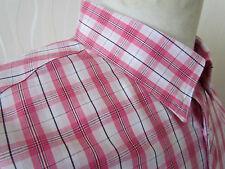 Ben Sherman Para Hombres Mangas Largas Camisa de cuadros blanco y rosa tamaño XXXL (3XL)