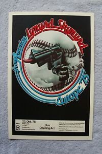 Lynyrd Skynyrd Concert Tour poster 1975 Germany European Tour__--