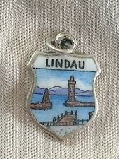 LINDAU Silver Travel Shield Enamel Charm