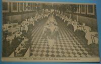 Vandreau's Restaurant, 41 N. Main St. Chambersburg PA 1910 postcard