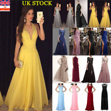 Women Evening Party Bling Long Maxi Dress Cocktail Wedding Prom Gown Bridesmaid