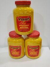 3 Pack of Weber's Horseradish Mustard 16 oz Plastic Bottles