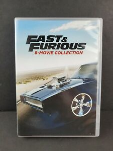 Fast and Furious: 8-Movie Collection (DVD, 2017, 9-Disc Set) Complete