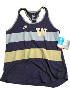 NWT New Washington Huskies Nike Team Stripe Women's Large Tank Top Shirt $32