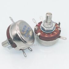 US Stock 2x 470 ohm 2W 6mm Round Shaft Rotary Taper Carbon Potentiometer WTH118