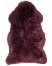 Large Extra Thick Wool UK Made Genuine Sheepskin Rug Hide Dark Purple uk made