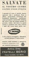 W8790 Olio di oliva BERIO - Pubblicità del 1958 - Vintage advertising