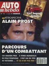 AUTO HEBDO n°721 du 4 Avril 1990 RETROSPECTIVE ALAIN PROST