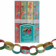 dotcomgiftshop MAKE YOUR OWN PAPER CHAIN KIT VINTAGE PARTY DESIGN 10m