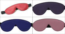 Strict Leather PADDED BLINDFOLD eye cover sleep mask PINK PURPLE BLUE RED BLACK