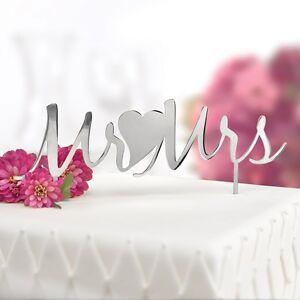 Mr and Mrs Wedding Cake Topper Cake Pick