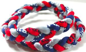 "SALE 18"" 3 Rope Twist Titanium Sport Necklace Navy Blue Red Gray Tornado Patriot"