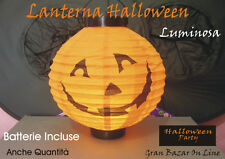 HALLOWEEN LANTERNA ZUCCA LUMINOSA DJ PARTY BATTERIE OMAGGIO 9b8ed26871fa