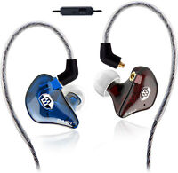 BASN Audio Extra Bass Earbuds Microphone In-Line Control In-Ear Noise Isolation