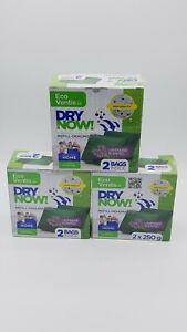 3 x 250g Eco Ventis Dry Now Refill -DEHUMIDIFIER - Absorber Lavender Scent Home