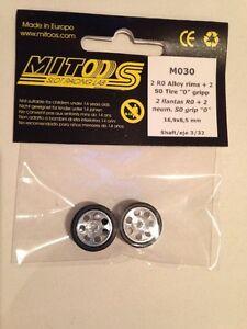 Mitoos M030 Léger Course Alliage Roues M020 & M000 S0 Zéro Poignée 17x8.5mm