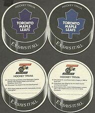 1996-97 Molson's Export Hockey Trivia Maple Leafs Coaster Variety Pair