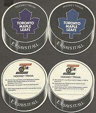 1996-97 Molson's Export Hockey Trivia Maple Leafs Coaster Variety Pair