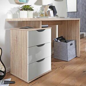 FineBuy Schreibtisch 120 cm Container Kinderschreibtisch Bürotisch Sonoma Eiche