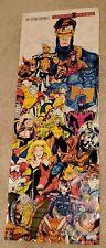 """Marvel Comics X-Men Mutant Genesis Poster Jim Lee 13.5"""" x 37"""" 1997"""