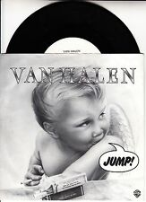 "VAN HALEN  Jump PICTURE SLEEVE 7"" 45 rpm vinyl record + juke box title strip"