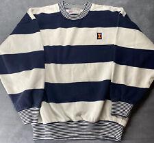 Vintage Univeristy Of Illinois Sweatshirt Blue And White Striped M Slazenger