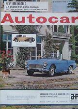 Autocar magazine 1/10/1965 featuring Aston Martin DB6, Lotus, Vauxhall VX4/90
