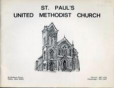 ST. PAUL UNITED METHODIST CHURCH TIFFIN OHIO 1974 YEARBOOK DIRECTORY PB COND: VG