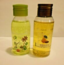 2 Yves Rocher Pear&Coca And Star Anise Travel Size Shower Gels 1 .7 fl.oz. ea.