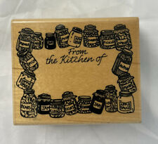 From The Kitchen Of 302-F 1995 Embossing Arts Co Rubber Stamp Stamping Crafting