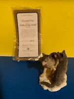PAIR WOLVES FIGURINE DEVOTED DUO  HAMILTON COLLECTION COA