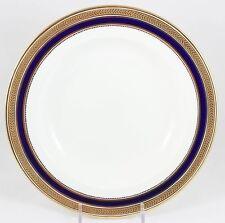 SET 4 DINNER PLATES ANTIQUE CAULDON CHINA L4145 COBALT RAISED GOLD ENCRUSTED