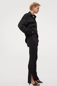 H&M Slit-detail leggings Black Small