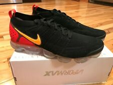 brand new 96749 9c2b5 Nike Air Vapormax Flyknit 2 Black Laser Orange Red 942842-005 Mens Size 11