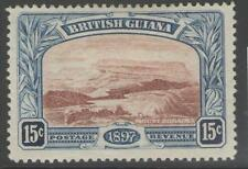 BRITISH GUIANA SG221 1898 15c RED-BROWN & BLUE MTD MINT