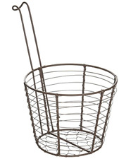 """Blossom Bucket Round Mesh Basket with Handle, 6"""" x 4.50"""""""