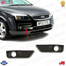 A PAIR OF FRONT BUMPER FOG LIGHT GRILL BEZEL FIT FORD FOCUS MK2 2005/08