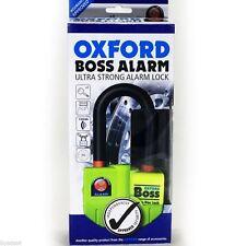 Mini U Bloc Bloque Disque Antivol Security + Alarme moto Oxford Boss jaune SRA