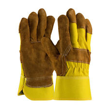 PIP Split Cowhide Leather Palm Work Glove with Hi-Vis Fabric
