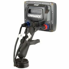 """RAM Quick Release 1"""" Ball Mount with Cable Manager for Lowrance Mark-4 & Elite-4"""