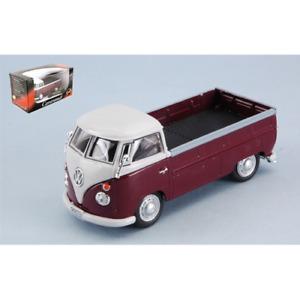 VW TRANSPORTER T1 Pick-up amarant/white 1960 CARARAMA  1/43   (TRANSPORTMANIA)