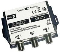 Schwaiger SAT-Umschaltbox 2in1 KFR6025 531 - DisEqC Schalter zur Bündelung vo...